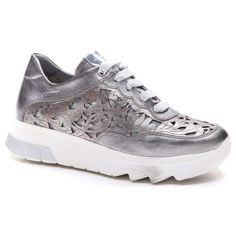SPOCK 15 LAMINATED LTH WILD GREY METAL